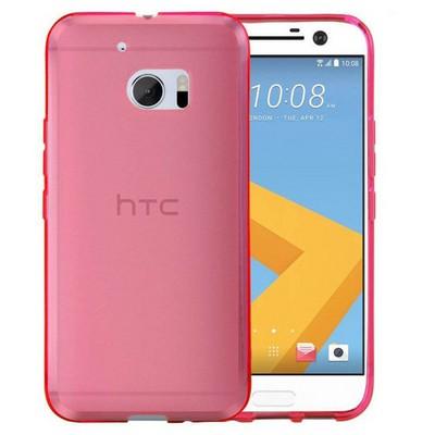 Microsonic Htc 10 Kılıf Transparent Soft Pembe Cep Telefonu Kılıfı