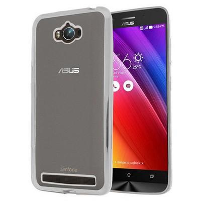 Microsonic Asus Zenfone Max 5.5 Kılıf Flexi Delux Gümüş Cep Telefonu Kılıfı
