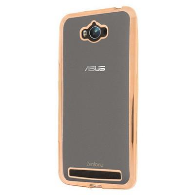 Microsonic Asus Zenfone Max 5.5 Kılıf Flexi Delux Gold Cep Telefonu Kılıfı
