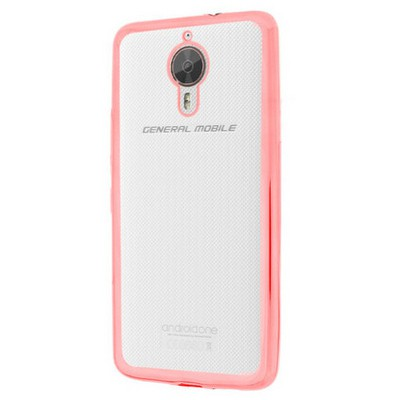 Microsonic General Mobile Gm5 Plus Kılıf Flexi Delux Rose Gold Cep Telefonu Kılıfı