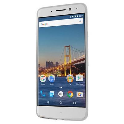 Microsonic General Mobile Gm5 Plus Kılıf Flexi Delux Gümüş Cep Telefonu Kılıfı