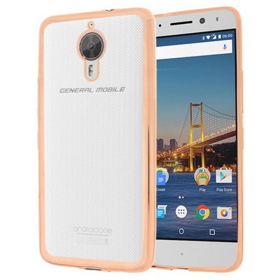 Microsonic General Mobile Gm5 Plus Kılıf Flexi Delux Gold Cep Telefonu Kılıfı