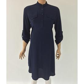 Trndy Trendy Hamile Uzun Tunik Lacivert S Gömlek, Bluz, Tunik