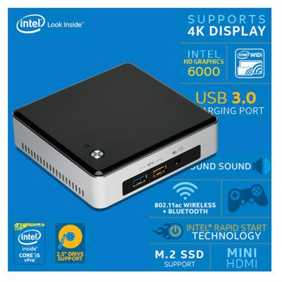 Intel Nuc Kit Nuc5i5ryk, Core I3-5250u, Mdp-mhdmı, Mini Pc Mini PC