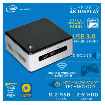 Intel Nuc5i5ryh, Core I5-5250u, Mhdmı+dp, Mini Pc (disk Ve Ram Dahil Değil) Mini PC