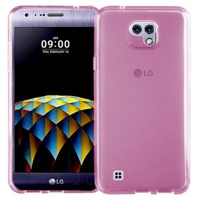 Microsonic Lg X Cam Kılıf Transparent Soft Pembe Cep Telefonu Kılıfı
