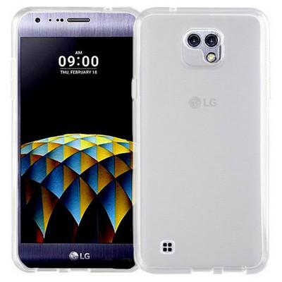 Microsonic Lg X Cam Kılıf Transparent Soft Beyaz Cep Telefonu Kılıfı