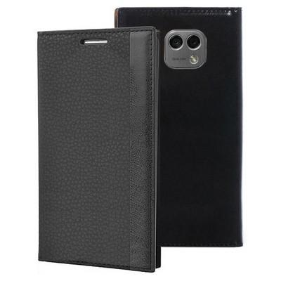 Microsonic Lg X Cam Kılıf Gizli Mıknatıslı Delux Siyah Cep Telefonu Kılıfı