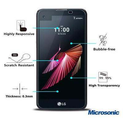Microsonic Lg X Screen Temperli Cam Ekran Koruyucu Kırılmaz Film Ekran Koruyucu Film