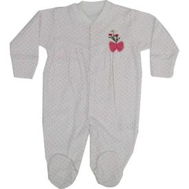 Bebetto 973 Kız Bebek Penye Tulum Fuşya 3-6 Ay (62-68 Cm) Bebek Tulumu