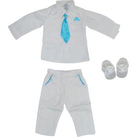 Pugi Baby 2014 Kravatlı Erkek Bebek Mevlüt Takımı Mavi 3-6 Ay (62-68 Cm) Erkek Bebek Hastane Çıkışı