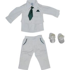 Pugi Baby 2014 Kravatlı Erkek Bebek Mevlüt Takımı Yeşil 3-6 Ay (62-68 Cm) Erkek Bebek Hastane Çıkışı