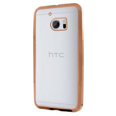 Microsonic Htc 10 Kılıf Flexi Delux Rose Gold Cep Telefonu Kılıfı