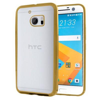 Microsonic Htc 10 Kılıf Flexi Delux Gold Cep Telefonu Kılıfı