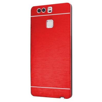 Microsonic Huawei P9 Kılıf Hybrid Metal Kırmızı Cep Telefonu Kılıfı