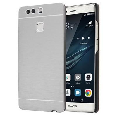 Microsonic Huawei P9 Kılıf Hybrid Metal Gümüş Cep Telefonu Kılıfı