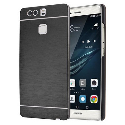 Microsonic Huawei P9 Kılıf Hybrid Metal Siyah Cep Telefonu Kılıfı