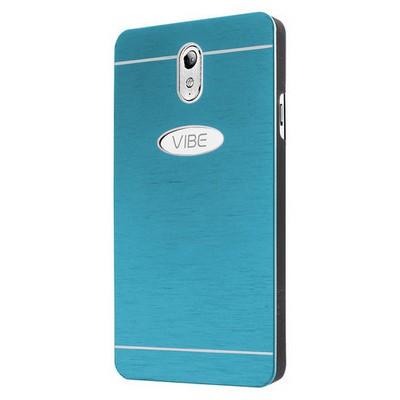Microsonic Lenovo Vibe P1m Kılıf Hybrid Metal Mavi Cep Telefonu Kılıfı