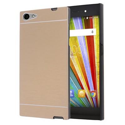 Microsonic Casper Via V9 Kılıf Hybrid Metal Gold Cep Telefonu Kılıfı