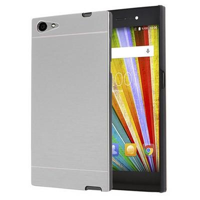 Microsonic Casper Via V9 Kılıf Hybrid Metal Gümüş Cep Telefonu Kılıfı