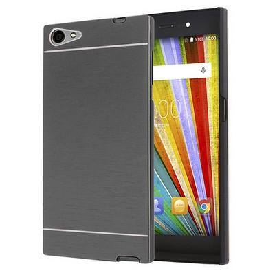 Microsonic Casper Via V9 Kılıf Hybrid Metal Siyah Cep Telefonu Kılıfı