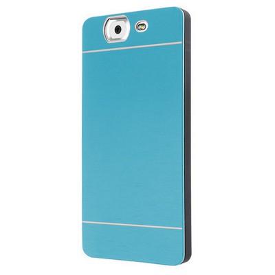 Microsonic Casper Via V8 Kılıf Hybrid Metal Mavi Cep Telefonu Kılıfı