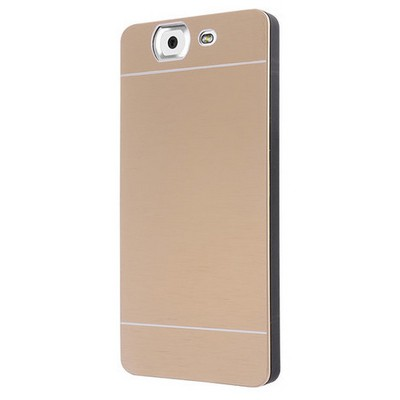 Microsonic Casper Via V8 Kılıf Hybrid Metal Gold Cep Telefonu Kılıfı