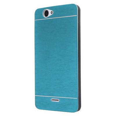 Microsonic Casper Via V5 Kılıf Hybrid Metal Mavi Cep Telefonu Kılıfı