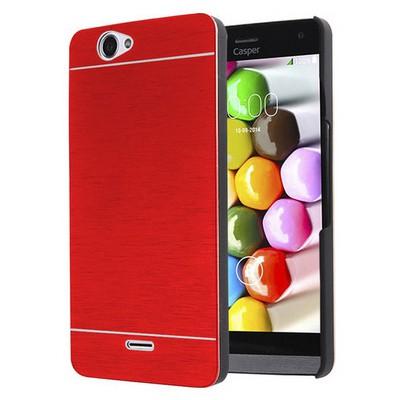 Microsonic Casper Via V5 Kılıf Hybrid Metal Kırmızı Cep Telefonu Kılıfı