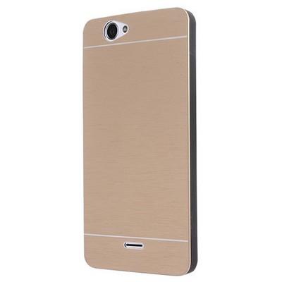 Microsonic Casper Via V5 Kılıf Hybrid Metal Gold Cep Telefonu Kılıfı