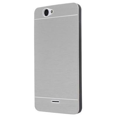 Microsonic Casper Via V5 Kılıf Hybrid Metal Gümüş Cep Telefonu Kılıfı