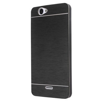 Microsonic Casper Via V5 Kılıf Hybrid Metal Siyah Cep Telefonu Kılıfı