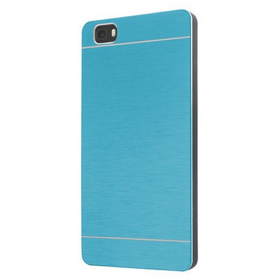 Microsonic Huawei P8 Lite Kılıf Hybrid Metal Mavi Cep Telefonu Kılıfı