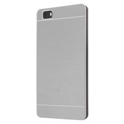 Microsonic Huawei P8 Lite Kılıf Hybrid Metal Gümüş Cep Telefonu Kılıfı