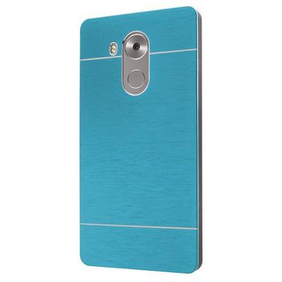 Microsonic Huawei Mate 8 Kılıf Hybrid Metal Mavi Cep Telefonu Kılıfı