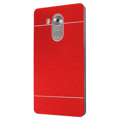 Microsonic Huawei Mate 8 Kılıf Hybrid Metal Kırmızı Cep Telefonu Kılıfı