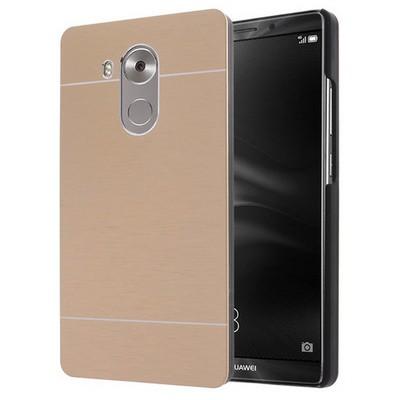 Microsonic Huawei Mate 8 Kılıf Hybrid Metal Gold Cep Telefonu Kılıfı