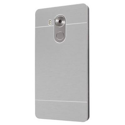 Microsonic Huawei Mate 8 Kılıf Hybrid Metal Gümüş Cep Telefonu Kılıfı