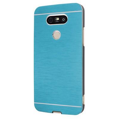 Microsonic Lg G5 Kılıf Hybrid Metal Mavi Cep Telefonu Kılıfı