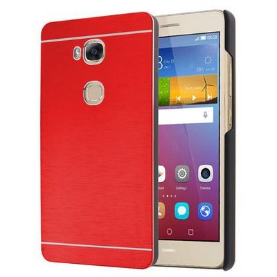 Microsonic Huawei Gr5 (honor 5x/x5) Kılıf Hybrid Metal Kırmızı Cep Telefonu Kılıfı