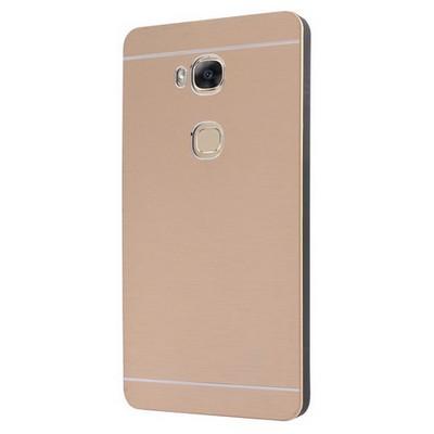 Microsonic Huawei Gr5 (honor 5x/x5) Kılıf Hybrid Metal Gold Cep Telefonu Kılıfı