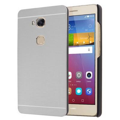Microsonic Huawei Gr5 (honor 5x/x5) Kılıf Hybrid Metal Gümüş Cep Telefonu Kılıfı