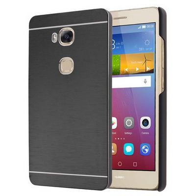 Microsonic Huawei Gr5 (honor 5x/x5) Kılıf Hybrid Metal Siyah Cep Telefonu Kılıfı