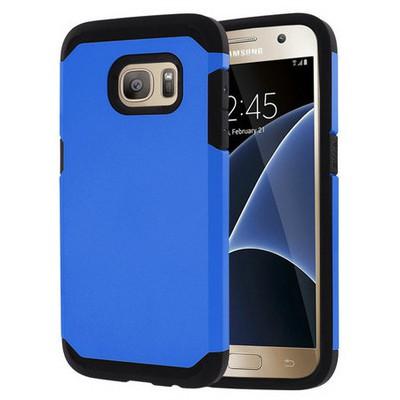 Microsonic Samsung Galaxy S7 Kılıf Slim Fit Dual Layer Armor Mavi Cep Telefonu Kılıfı