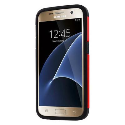 Microsonic Samsung Galaxy S7 Kılıf Slim Fit Dual Layer Armor Kırmızı Cep Telefonu Kılıfı