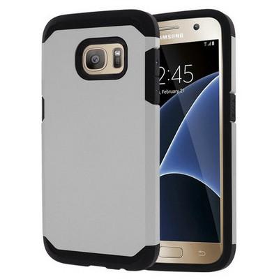 Microsonic Samsung Galaxy S7 Kılıf Slim Fit Dual Layer Armor Gümüş Cep Telefonu Kılıfı