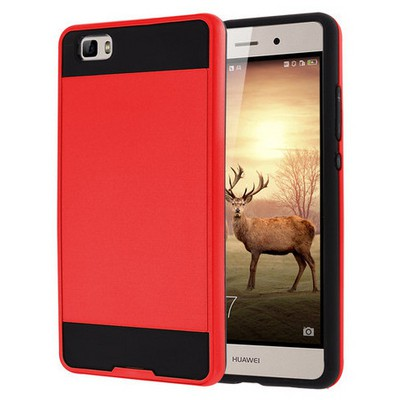 Microsonic Huawei P8 Lite Kılıf Slim Fit Dual Layer Armor Kırmızı Cep Telefonu Kılıfı