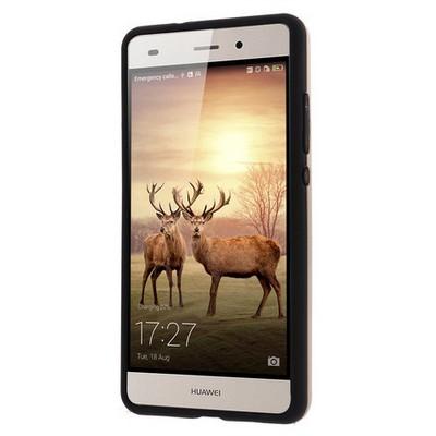 Microsonic Huawei P8 Lite Kılıf Slim Fit Dual Layer Armor Gold Cep Telefonu Kılıfı