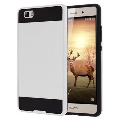 Microsonic Huawei P8 Lite Kılıf Slim Fit Dual Layer Armor Beyaz Cep Telefonu Kılıfı