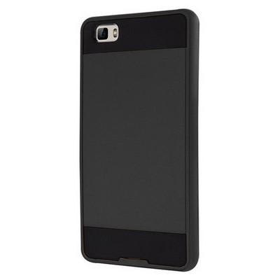 Microsonic Huawei P8 Lite Kılıf Slim Fit Dual Layer Armor Siyah Cep Telefonu Kılıfı